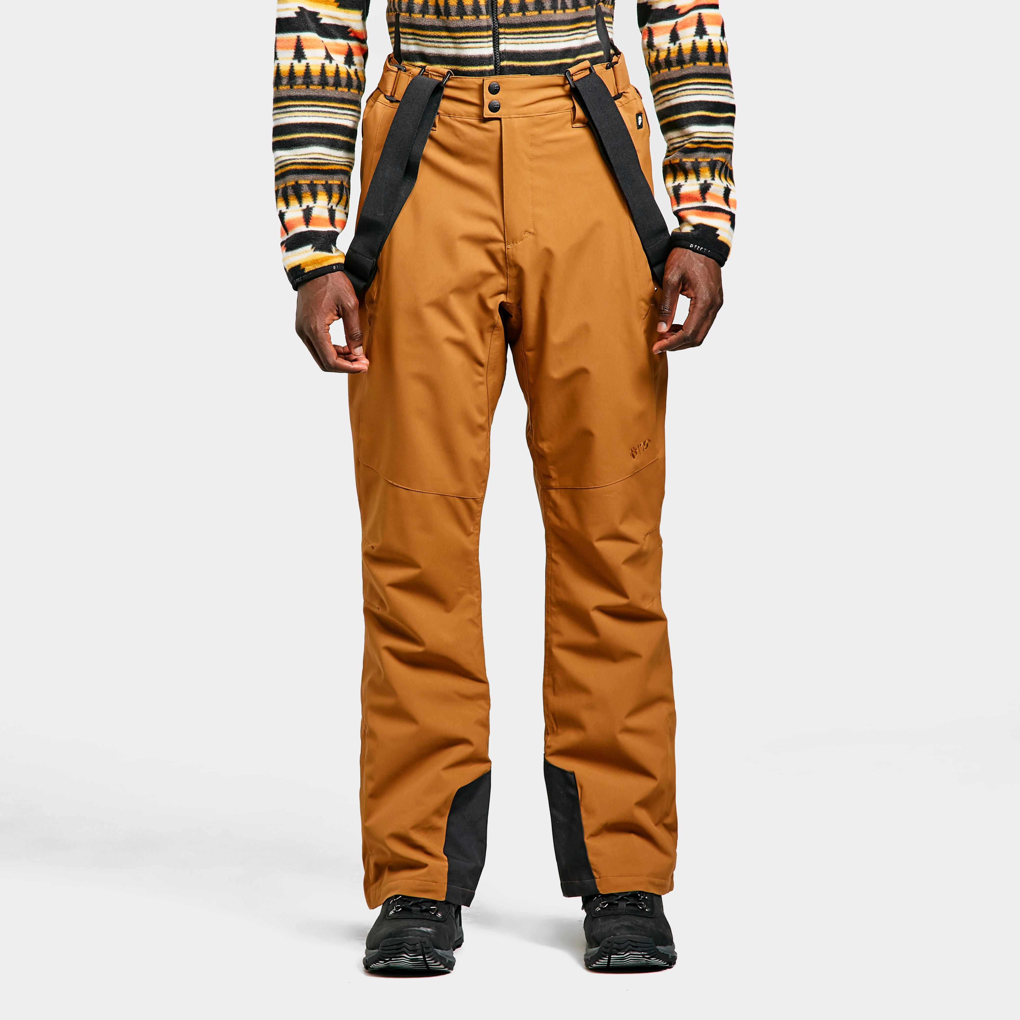 Protest Men's Owens Ski Pants - Orange/Brn, Orange