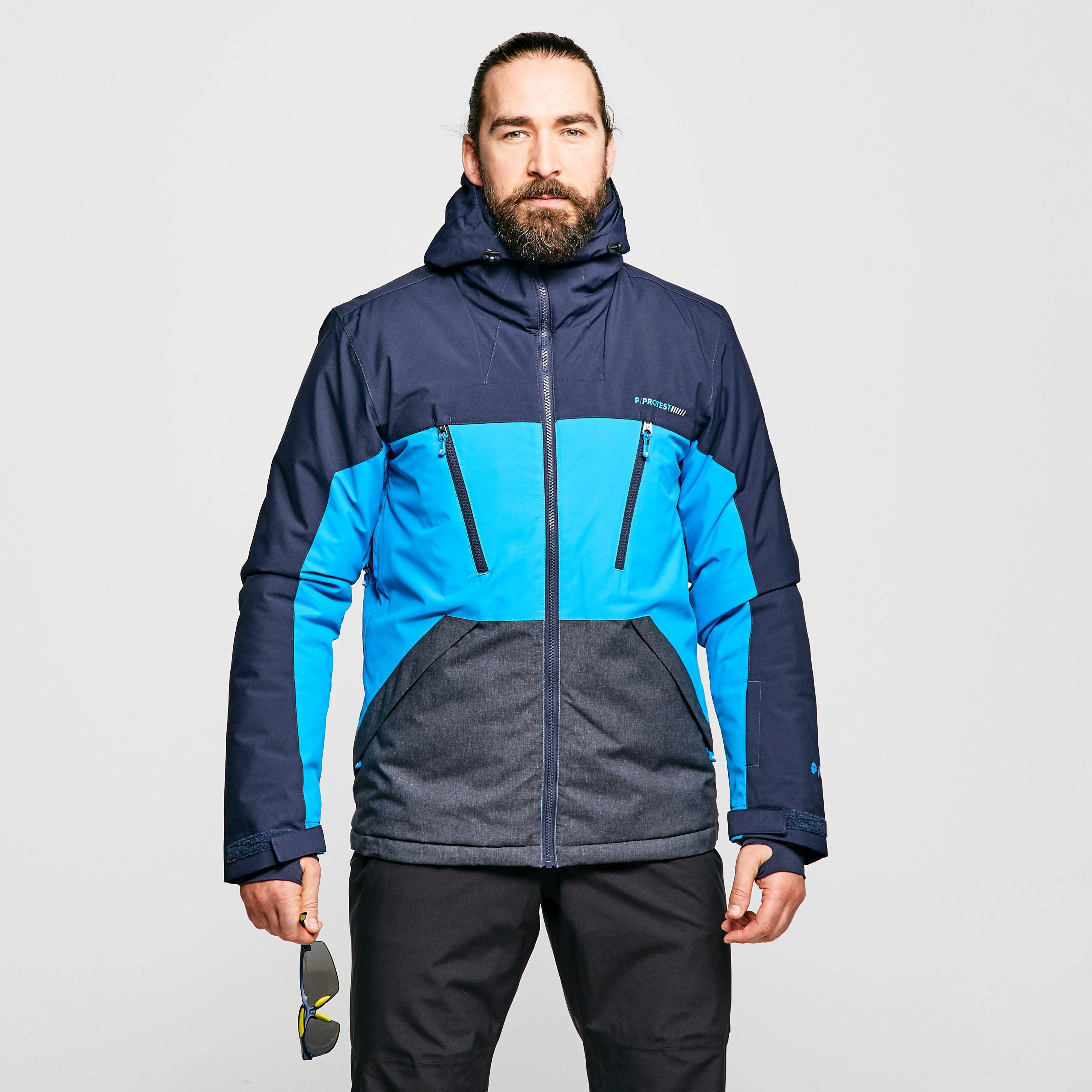Protest Men's Ultra Ski Jacket - Blue, Blue