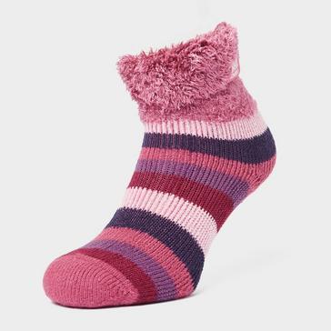Pink Heat Holders Women's Lounge Stripe Socks