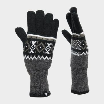 Black Heat Holders Men's Thermal Fair Isle Glove
