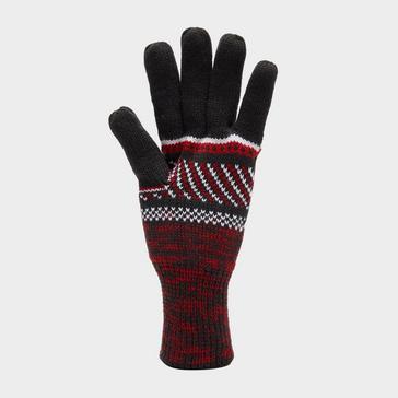 Grey Heat Holders Men's Thermal Fair Isle Glove