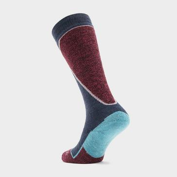 Blue Bridgedale Womens' Merino Wool Plus Ski Sock
