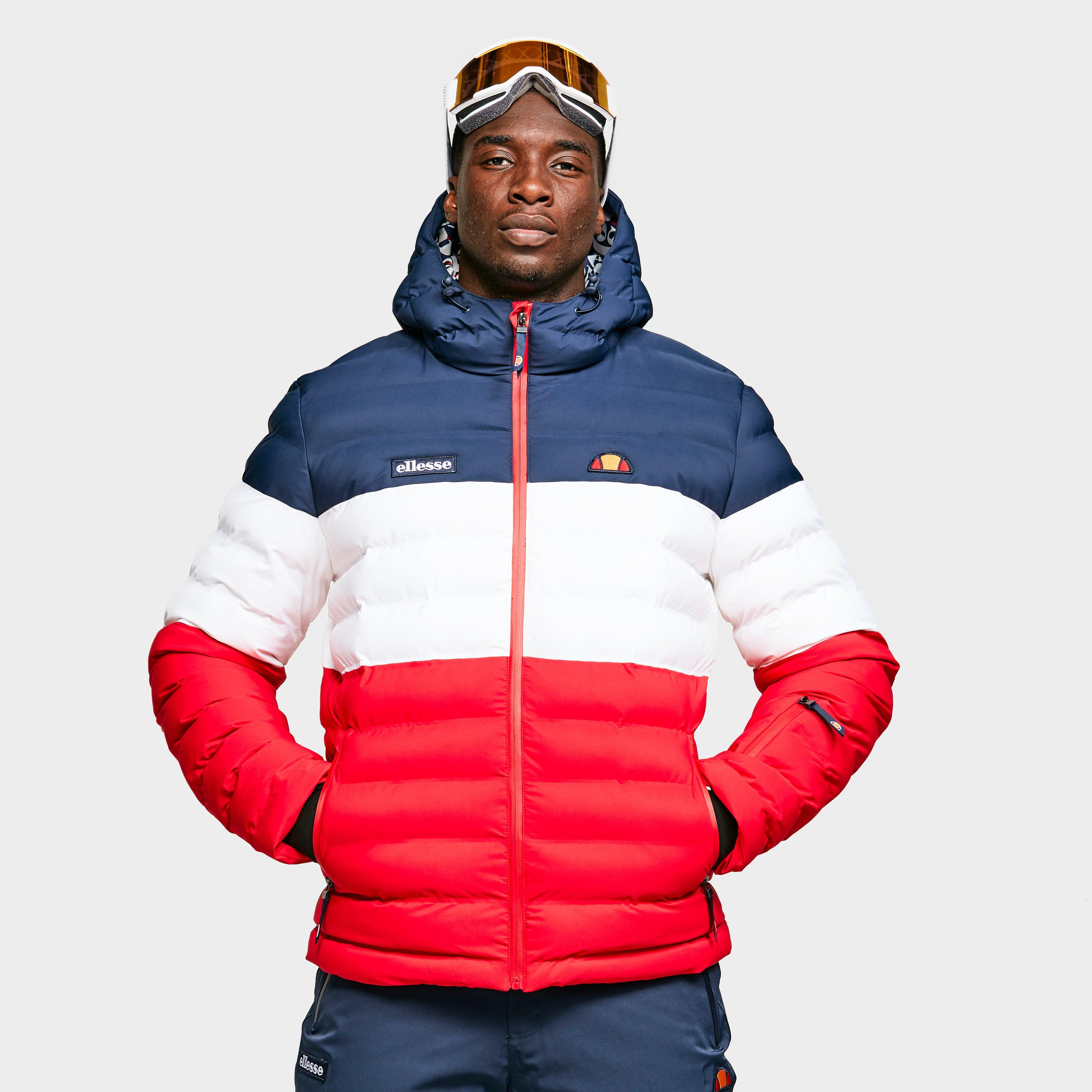 Ellesse Men's Drummond Ski Jacket - Red/Blue, Red/Blue