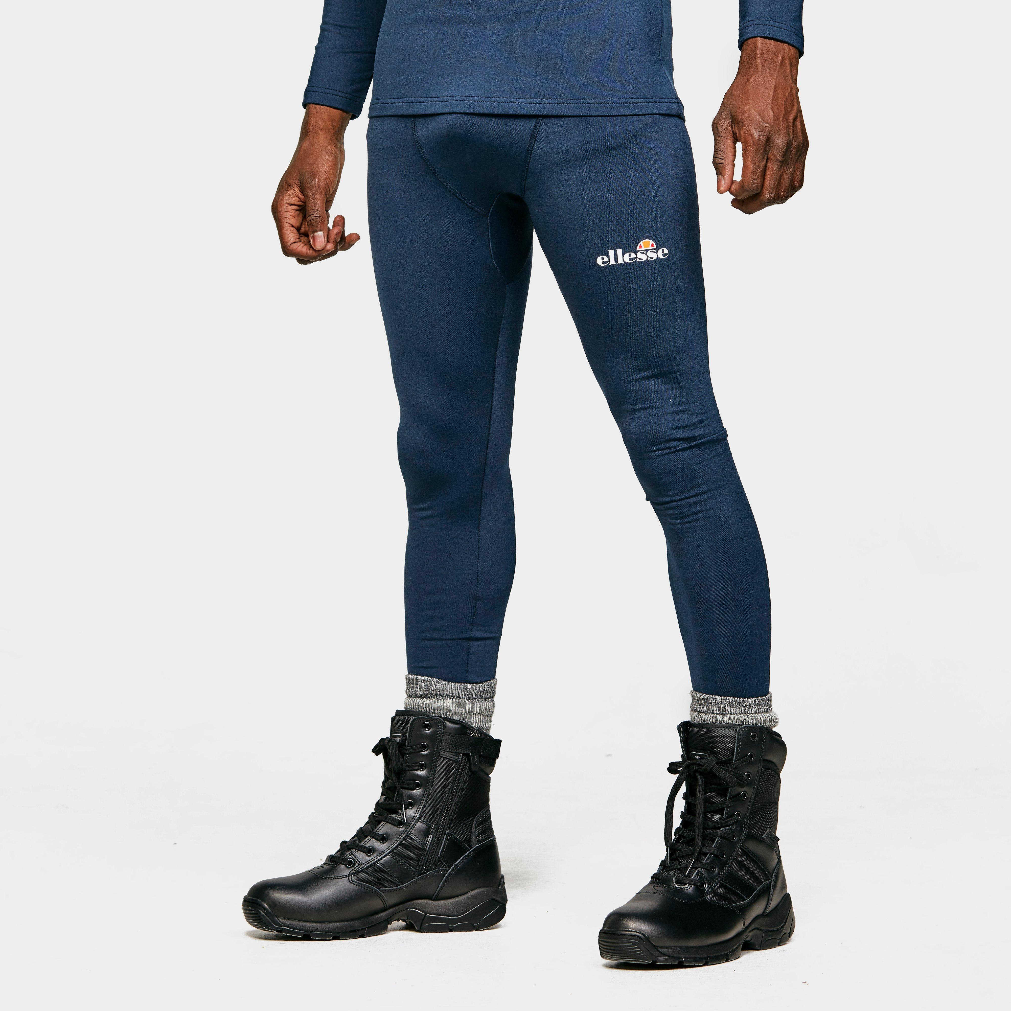 Image of Ellesse Men's Dixon Baselayer Pants - Navy/Dbl, Navy/DBL