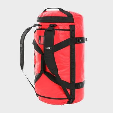 Red The North Face Basecamp Duffel Bag (Small)