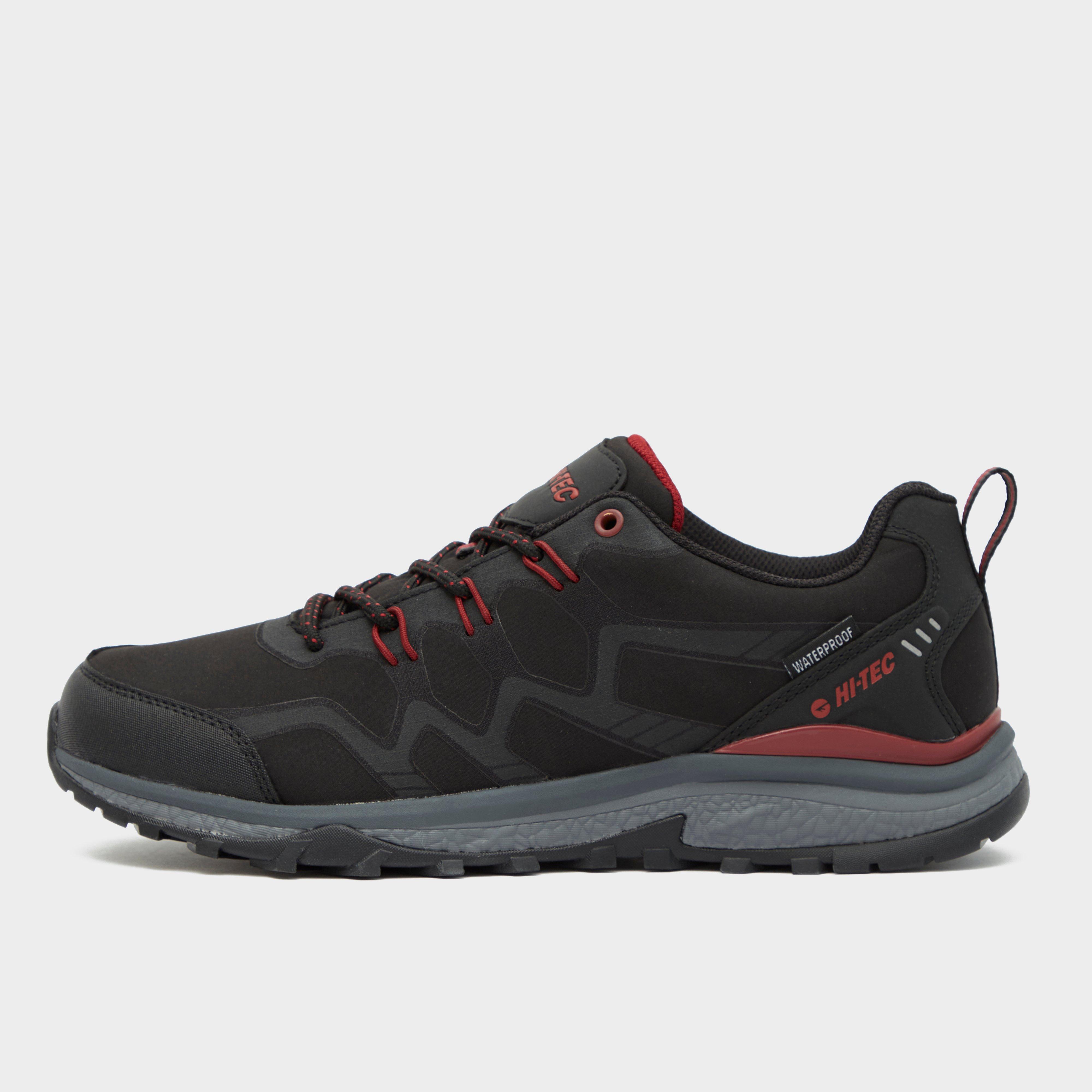 Hi Tec Men's Cyclone Waterproof Shoes - Black/Red, Black/Red