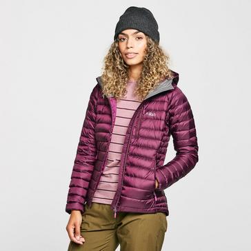 Purple Rab Women's Microlight Alpine ECO Down Jacket