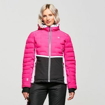 Pink Dare 2B Women's Vividly Waterproof Insulated Ski Jacket