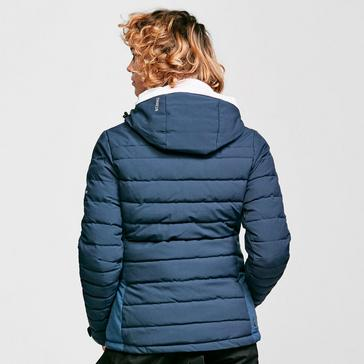 Navy Dare 2B Women's Succeed Waterproof Insulated Quilted Hooded Ski Jacket
