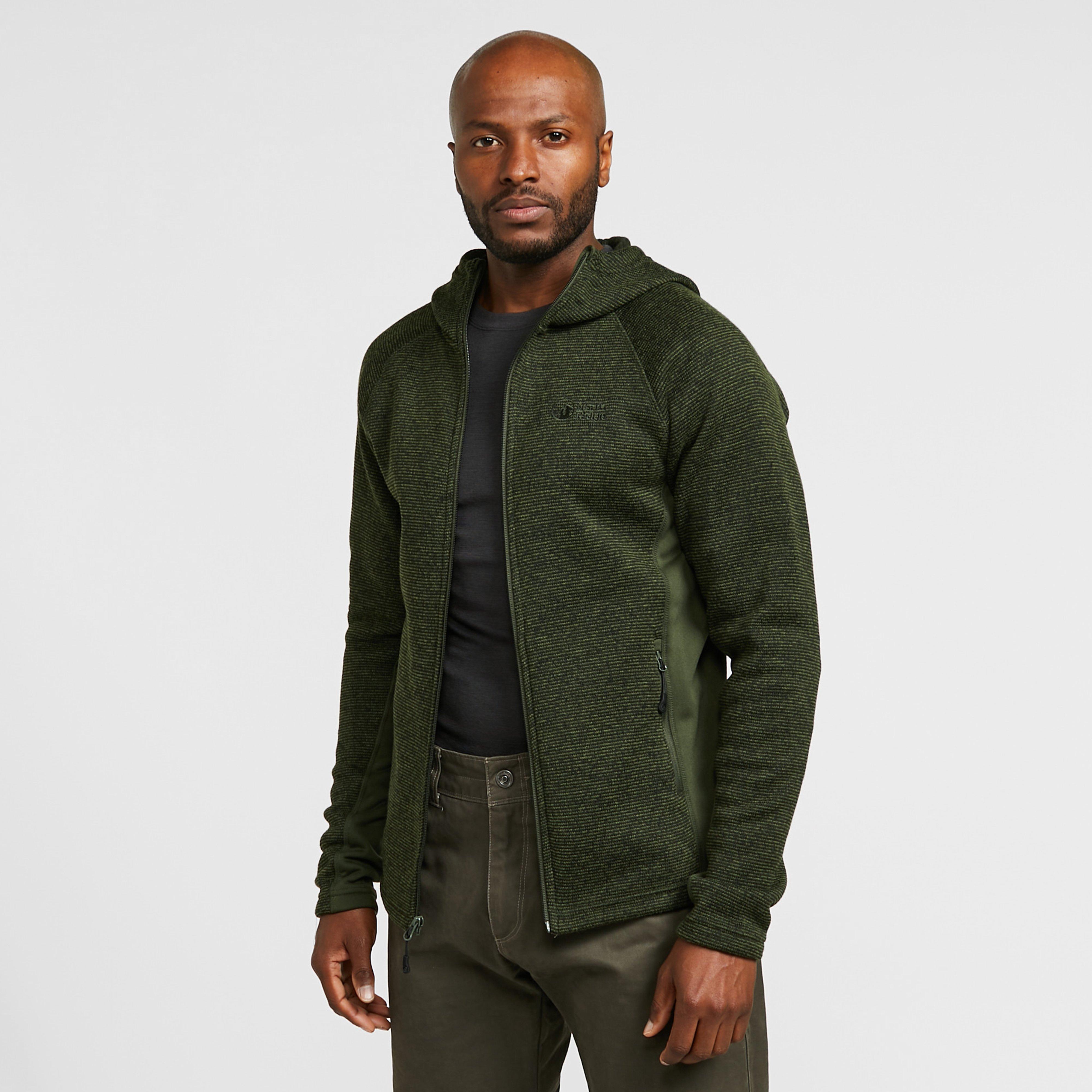 Image of North Ridge Men's Atlas Textured Fleece - Green/Khk, Green/KHK