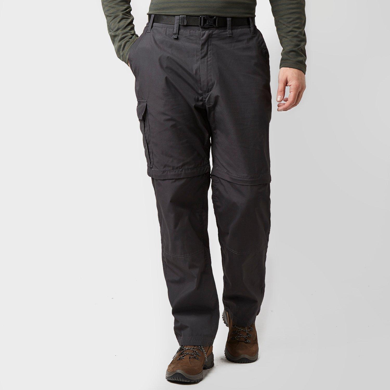 Craghoppers Men's Kiwi Convertible Trousers - Grey/Grey, Grey