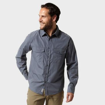 grey Craghoppers Men's Kiwi Long Sleeved Shirt