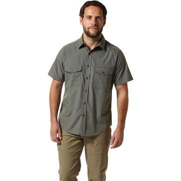 green Craghoppers Men's Kiwi Short Sleeved Shirt