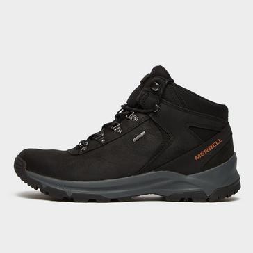 BLACK Merrell Mens Erie Mid Waterproof Walking Boots