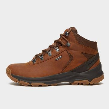 Red Merrell Men's Erie Mid Waterproof Walking Boots