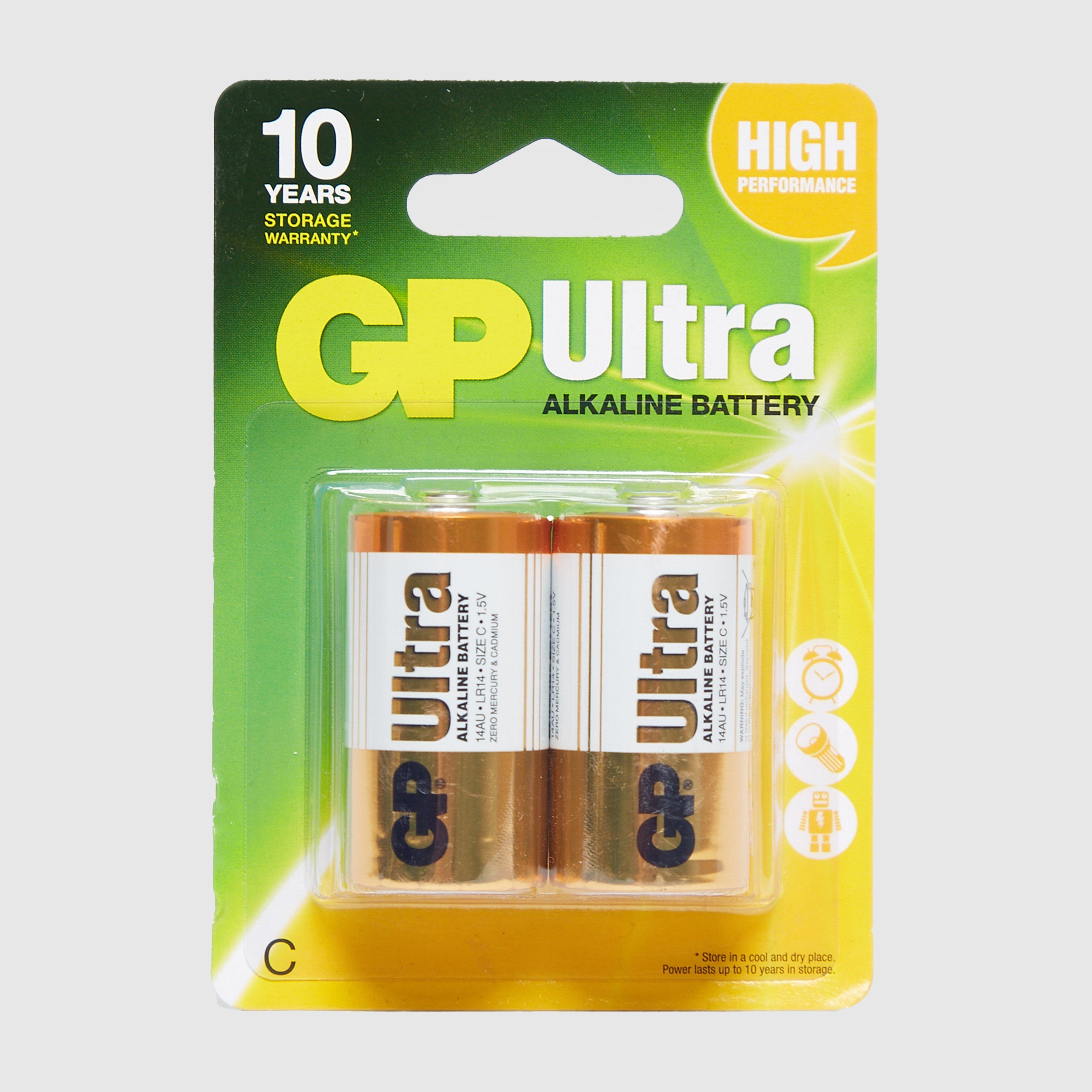 GP Batteries Ultra Batteries C 2 Pack, Yellow/2PK