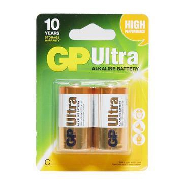 yellow GP Batteries Ultra Batteries C 2 Pack