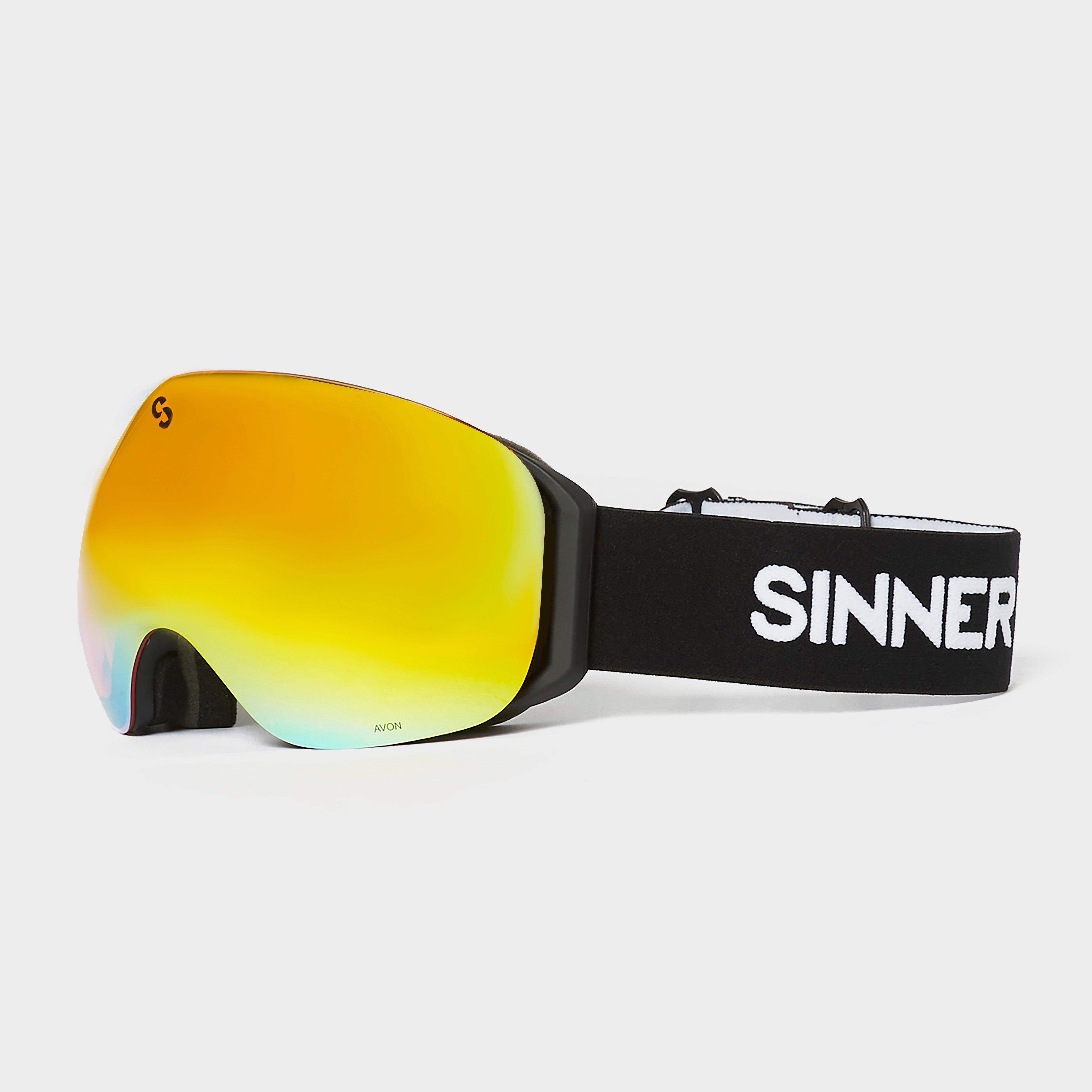 Image of Sinner Unisex Avon Matte Goggles - Blk/Red/Blk/Red, BLK/RED/BLK/RED