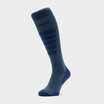Blue SALOMON SOCKS Women's Comfort Ski Socks