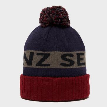Navy Sealskinz Waterproof Knitted Bobble Hat