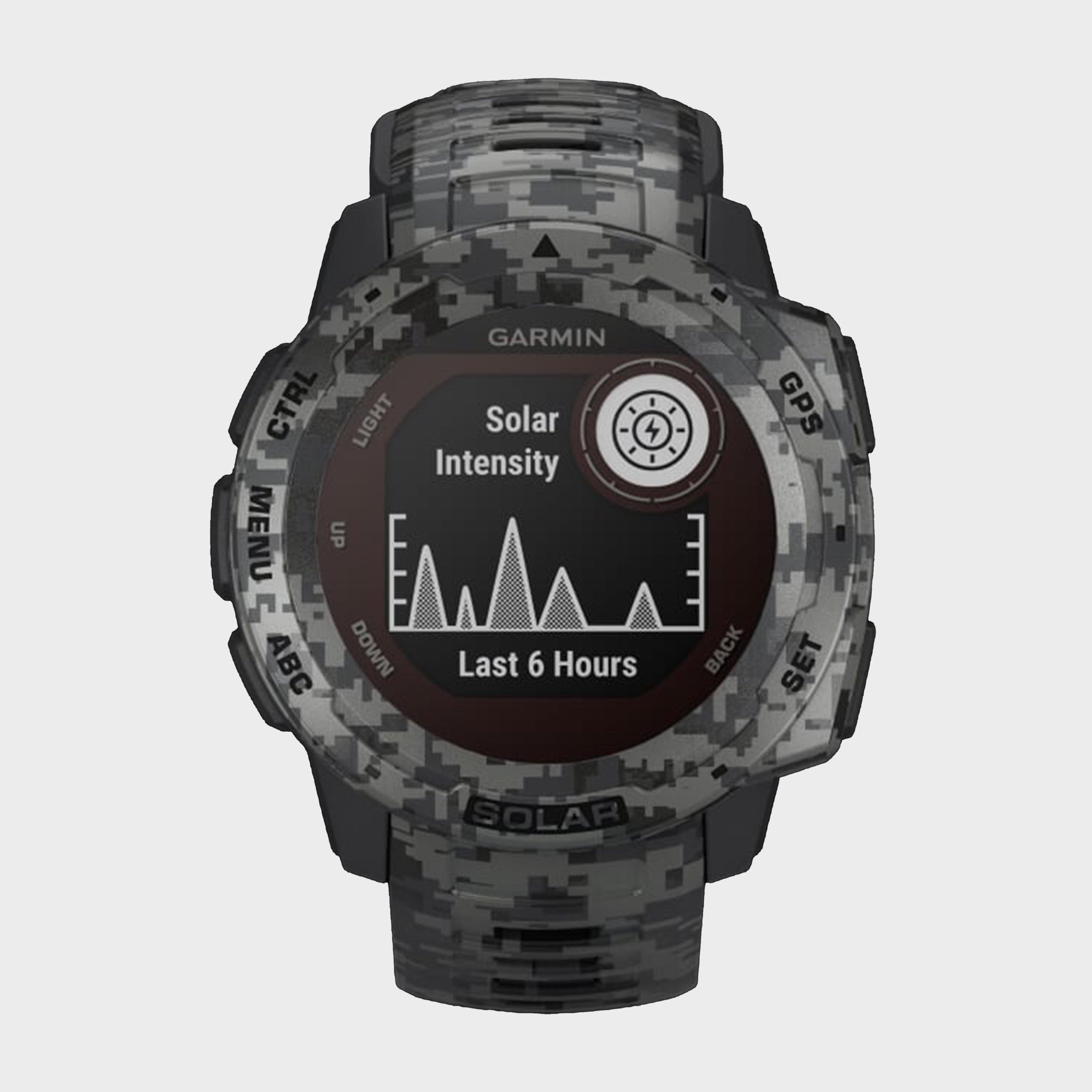 Garmin Instinct Solar Camo Edition Multi-Sport Gps Watch - Grey/Black, Grey/Black