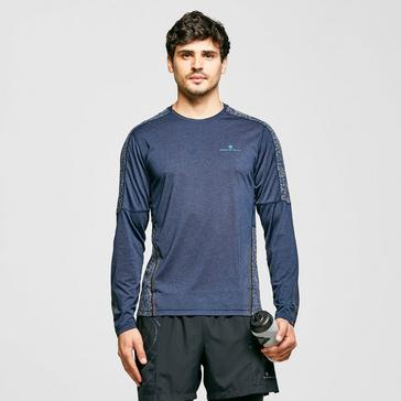 Blue Ronhill Men's Life Nightrunner Long Sleeve T-Shirt