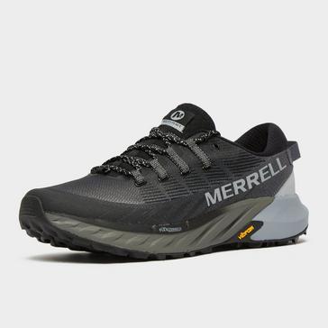 Black Merrell Men's Agility Peak 4 Trail Running Shoe (Black)