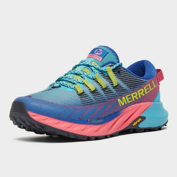 multicolour Merrell Merrell Women's Agility Peak 4 Trail Running Shoe (Blue)