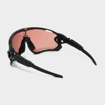 Black Oakley Jawbreaker Carbon Prizm Trail Torch Sunglasses