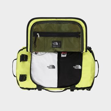 Yellow The North Face Base Camp Duffel Bag (Small)