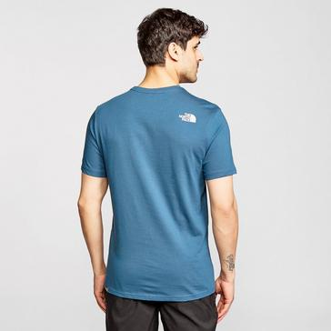 Blue The North Face Men's Mountain Line Short-sleeve Tee
