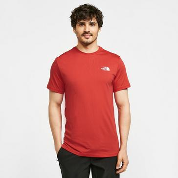 Red The North Face Men's Simple Dome T-Shirt