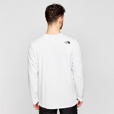 White The North Face Men's Half Dome Long-sleeve Jersey