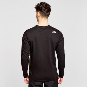 Black The North Face Men's Half Dome Long-sleeve Jersey
