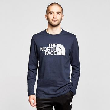 NAVY The North Face Men's Half Dome Long-sleeve Jersey