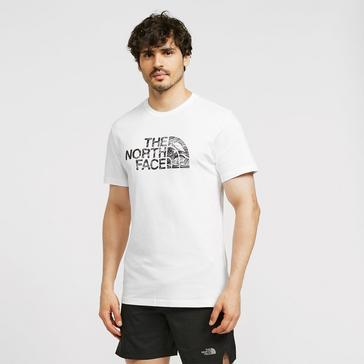 White The North Face Men's Woodcut Dome Tee