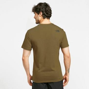 Khaki The North Face Men's Woodcut Dome T-Shirt