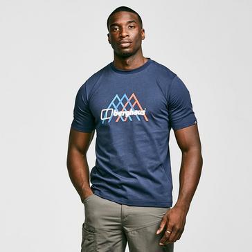 Navy Berghaus Men's Peak Fusion Grid T-Shirt