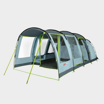 Blue COLEMAN Meadowood 4 Person Large Tent With Blackout Bedrooms