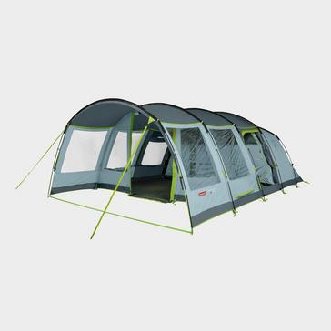Blue COLEMAN Meadowood 6 Person Large Tent with Blackout Bedrooms