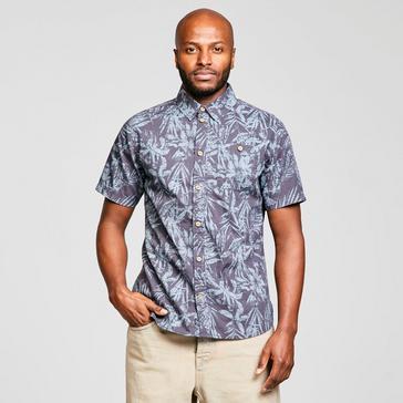 Blue Weird Fish Men's Thomkins Hawaiian Print Shirt