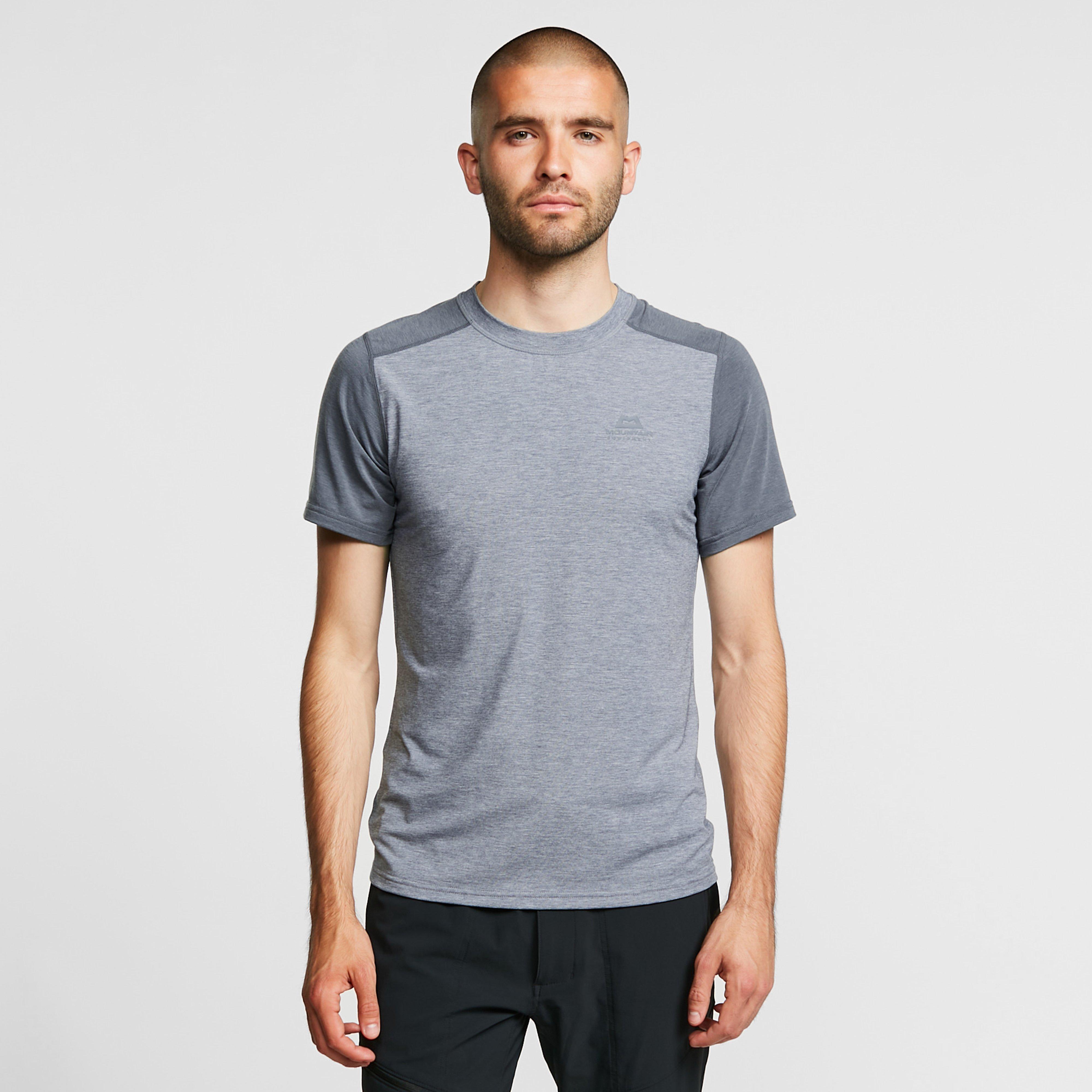 Image of Mountain Equipment Men's Headpoint Short-Sleeve Tee - Grey/Grey, GREY/GREY