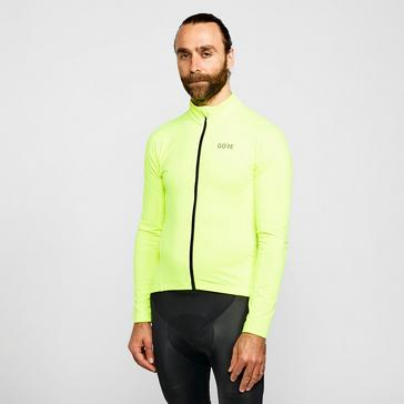 yellow Gore Men's C3 Thermo Cycling Jersey