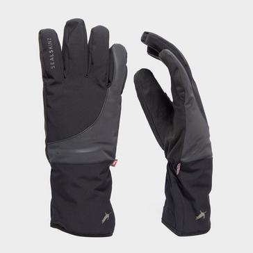 Grey Sealskinz Cold Weather Reflective Cycle Gloves