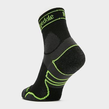 Black Bridgedale Men's Lightweight Merino Performance ¾ Crew Socks
