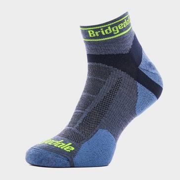 Blue Bridgedale Men's Ultra Light T2 Merino Sport Low Socks