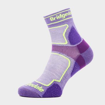 Purple Bridgedale Women's Ultra Light T2 COOLMAX® Sport Low Socks