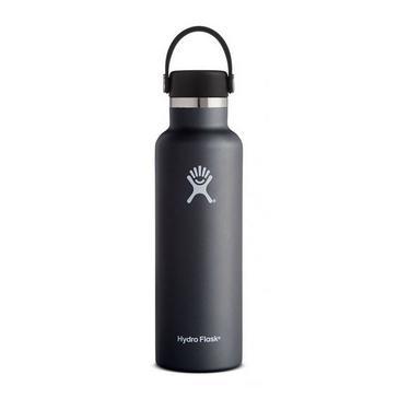Black Hydro Flask 21oz Standard Mouth Flask