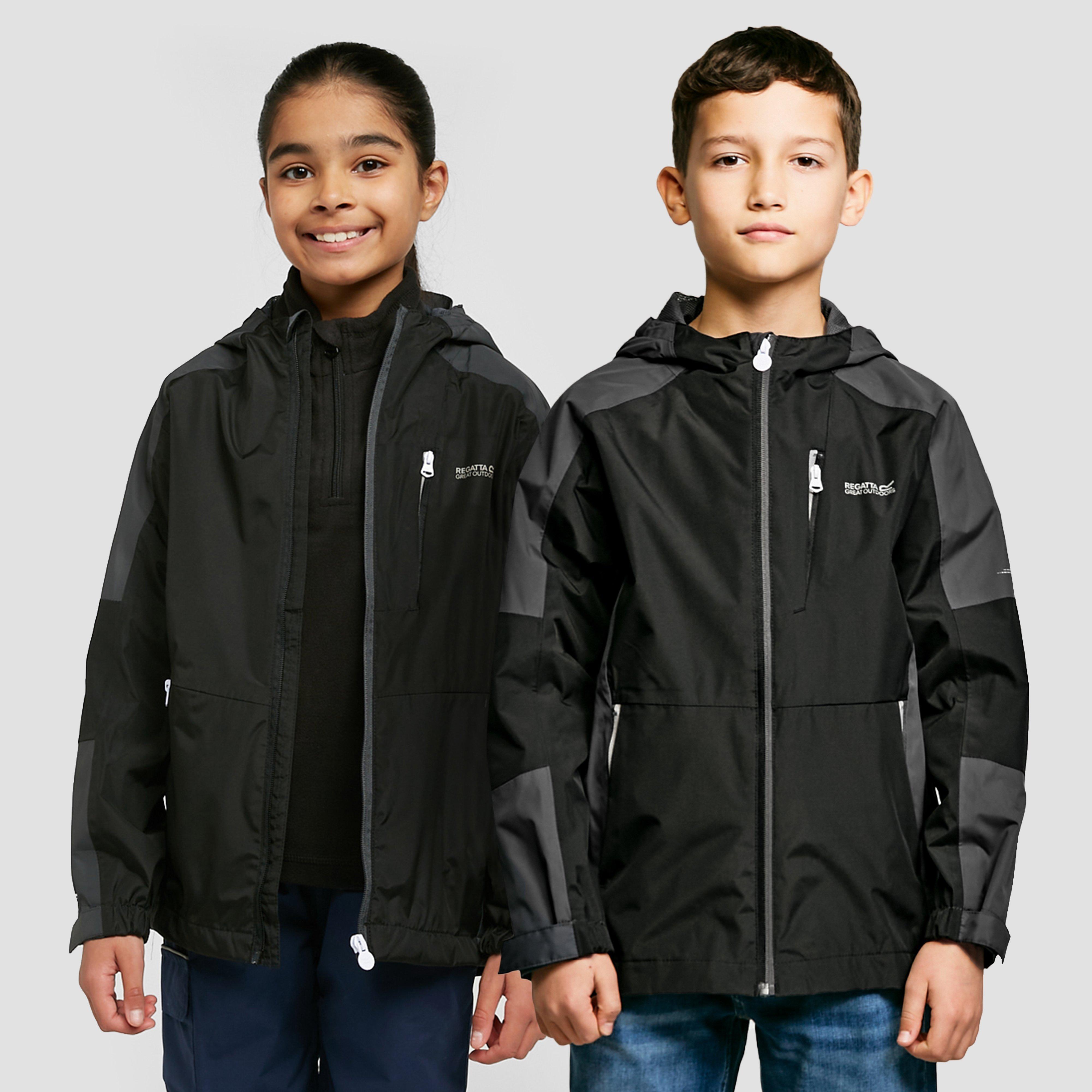 Image of Regatta Kids' Calderdale Ii Waterproof Jacket - Black/Black, Black/Black
