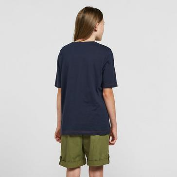 Navy Craghoppers Kids Gibbon Short Sleeved T-Shirt